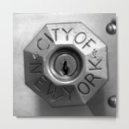 KEY TO NYC Metal Print