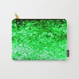 Grass Green Pixels Carry-All Pouch
