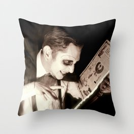 Character Portrait of 'The Necromancer' Throw Pillow