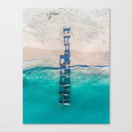 Old Jurien Bay Jetty - Wall Art Print, Home Decor, Wall Decor, Ocean, Waves, Aerial Beach, Beach Canvas Print