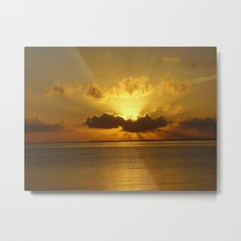 Belizean Sunrise Metal Print