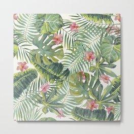 Palm Leaves Pattern 10 Metal Print