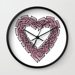 Celtic Knotwork Heart Wall Clock