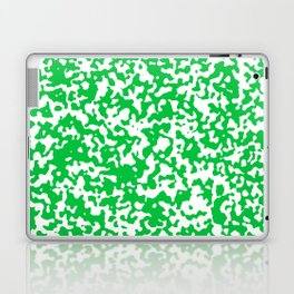 Small Spots - White and Dark Pastel Green Laptop & iPad Skin