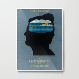 The Life Aquatic Movie Poster Metal Print