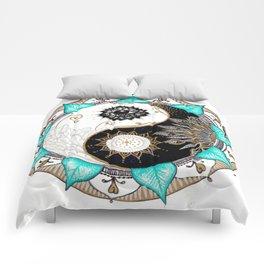 Yin and Yang Mandala Comforters