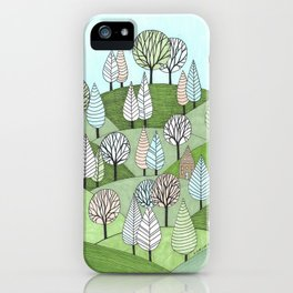 Little Cottage in the Woods iPhone Case
