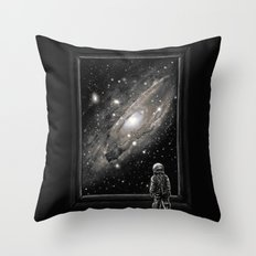 Looking Through a Masterpiece Throw Pillow