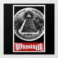 illuminati Canvas Prints featuring Illuminati  by Spyck