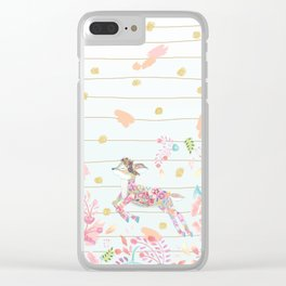 Hello Deer Clear iPhone Case