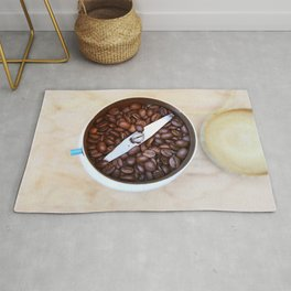 coffee beans and the coffee mill Rug