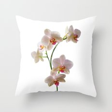 Orchid Spray Throw Pillow