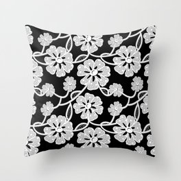 50's Lace Throw Pillow