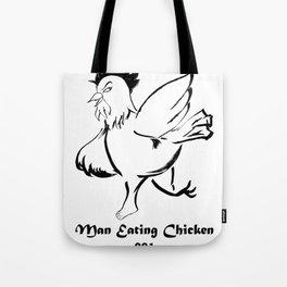 Man Eating Chicken 001 Tote Bag