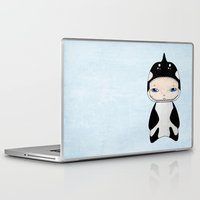 killer whale Laptop & iPad Skins featuring A Boy - Killer Whale by Christophe Chiozzi