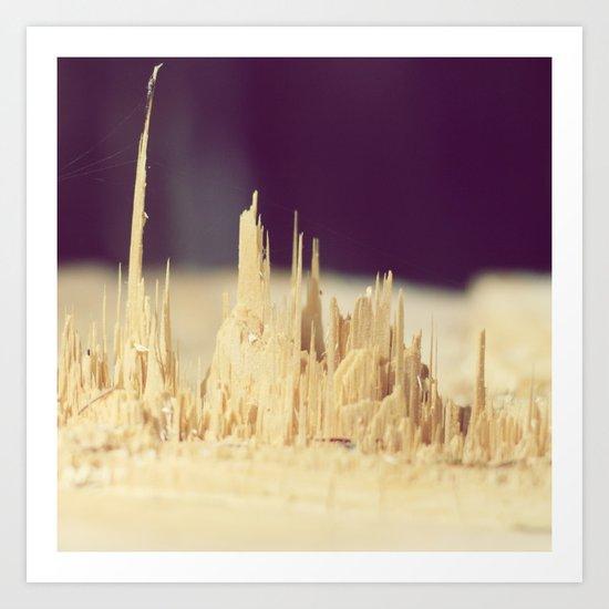 Wodden skyscrapers Art Print