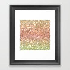 Champagne Shimmer Framed Art Print