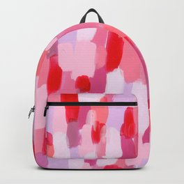 Abstract Painting Pink Modern Art Acrylic - Meet Me In The Red Woods Backpack