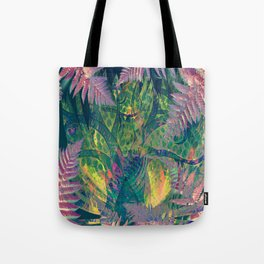 Abstract Floral Fern Tree Fairyland Tote Bag