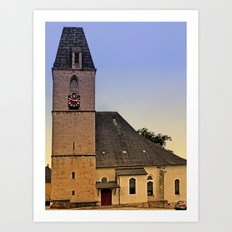 The village church of Kematen a.d. Krems I | architectural photography Art Print