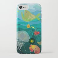 mermaids iPhone & iPod Cases featuring Mermaids by Caroline Krzykowiak