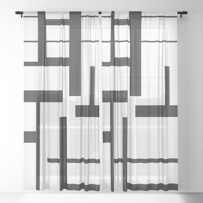 Lines #3 Sheer Curtain