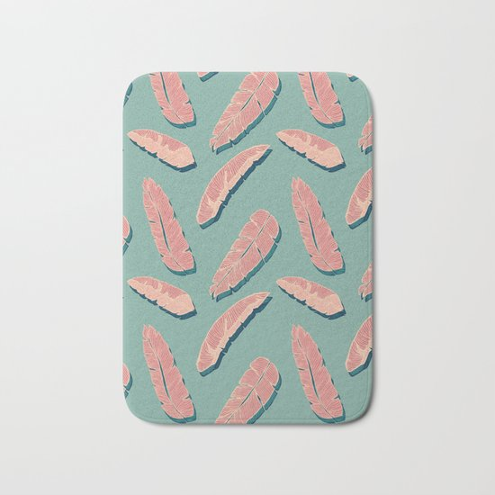 Falling Pink Leaves #society6 #decor #buyart Bath Mat