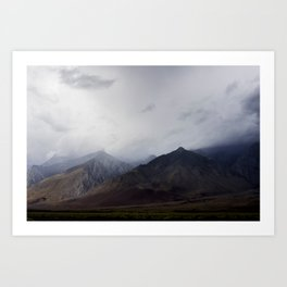Cloudy Eastern Sierras Art Print