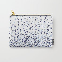 Floating Dots - Gray and Blues on White Carry-All Pouch