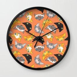 """""""Oro?"""" Cats-Salmon Color Wall Clock"""