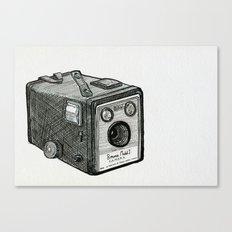 Kodak Box Brownie Camera Illustration Canvas Print