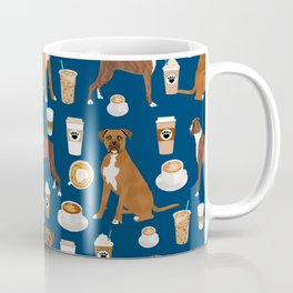 Boxer dog breed coffee pet gifts boxers pupuccino Coffee Mug