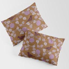 Purple Crow & Lavender Pumpkins Pillow Sham