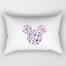 mickey ears silhouette  Rectangular Pillow