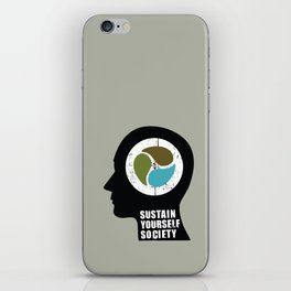 sustain yourself society iPhone Skin
