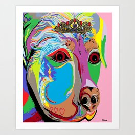 Lady Rottweiler Art Print
