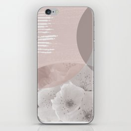 Neutral Blossoms Geometric Collage iPhone Skin