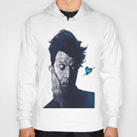 valentines Hoodies featuring Tom Waits - Blue Valentines by Brad Collins Art & Illustration
