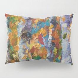 Birch trees - Palette Knife  Pillow Sham