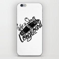 longboard iPhone & iPod Skin