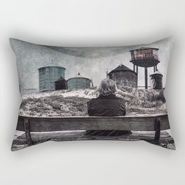 Living in the past Rectangular Pillow