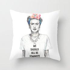 FRIDA KAHLO - The Ultimate Feminist Throw Pillow