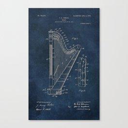 Ekman  Harp  patent art Canvas Print