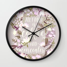 Coffee & Concealer – Spring Palette Wall Clock