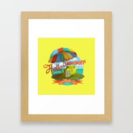 Hello summer and hello sea! Framed Art Print