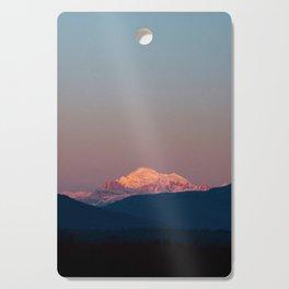 Sunset on Mount Baker Cutting Board