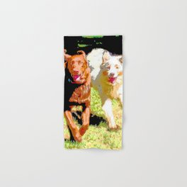 Dogs Running Abstract Hand & Bath Towel
