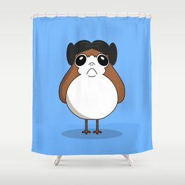 porg leila Shower Curtain