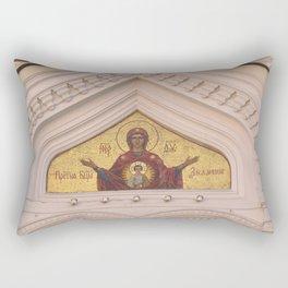 Christian Mosaic In Tallinn Rectangular Pillow