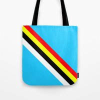 rave Tote Bags featuring Rave by Naked N Pieces